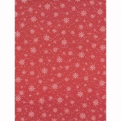 Designkartonki A4, 6700, Lumihiutale punainen