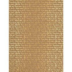 Designkartonki A4, 2268, Hyvää Joulua, uusio kultafolio