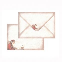 Kirjekuori C6, 3086, Vintage joulupukki