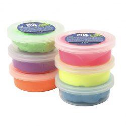 Silk Clay® silkkimassa 6x14g, Neon värilajitelma